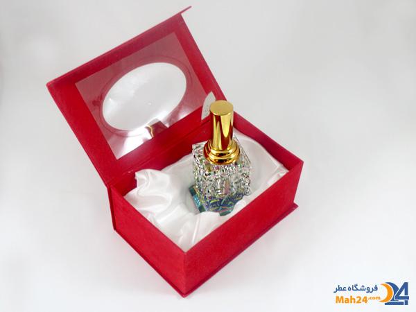 شیشه عطر اسپری کریستالی همراه با جعبه مخمل کد 2