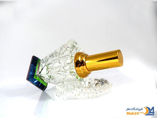 شیشه عطر اسپری کریستالی همراه با جعبه مخمل کد 6