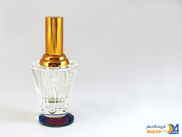 شیشه عطر اسپری کریستالی همراه با جعبه مخمل کد 1