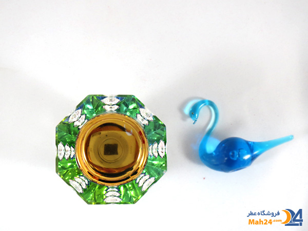 شیشه عطر اسپری کریستالی همراه با جعبه مخمل کد 4