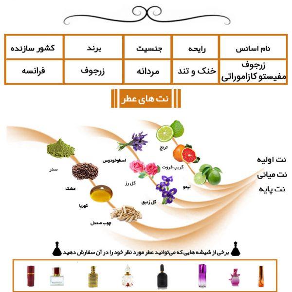 عطر مردانه زرجوف مفیستو کازاموراتی