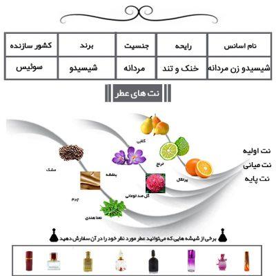 عطر شیسیدو زن مردانه