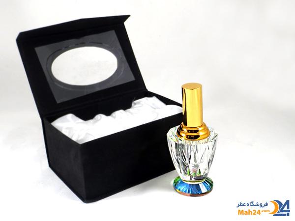 شیشه عطر اسپری کریستالی به همراه جعبه مخمل کد 7